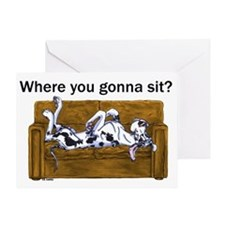 NH Where RU Gonna Sit? Greeting Card
