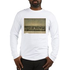 Sacramento Antique Map Long Sleeve T-Shirt