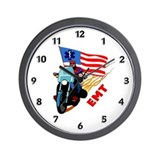 EMT Bikers Wall Clock