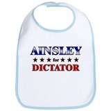AINSLEY for dictator Bib