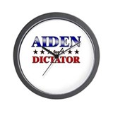AIDEN for dictator Wall Clock
