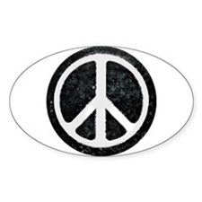 Original Vintage Peace Sign Oval Decal