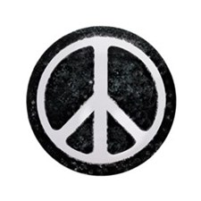 "Original Vintage Peace Sign 3.5"" Button"