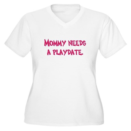 Gifts for Moms Women's Plus Size V-Neck T-Shirt