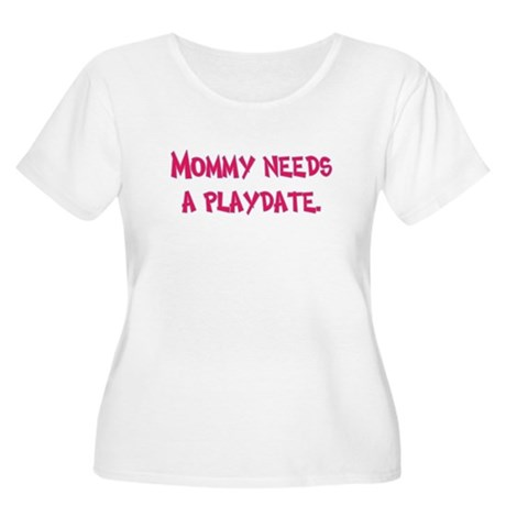 Gifts for Moms Women's Plus Size Scoop Neck T-Shir