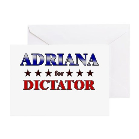 ADRIANA for dictator Greeting Cards (Pk of 20)
