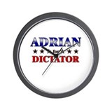 ADRIAN for dictator Wall Clock
