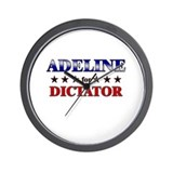 ADELINE for dictator Wall Clock