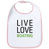 Live Love Boating Bib