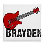 Guitar - Brayden Tile Coaster