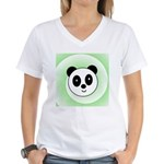 PANDA BEAR Women's V-Neck T-Shirt