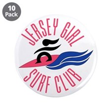 "Jersey Girl Surf Club 3.5"" Button (10 pack)"
