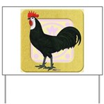 Whitefaced Spanish Rooster Yard Sign