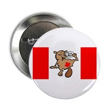 Beaver - Colour + Flag Big + Maple Leaf Button