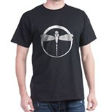 Art Deco Dragonfly T-Shirt (black)
