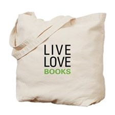 Live Love Books Tote Bag