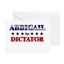 ABBIGAIL for dictator Greeting Card