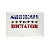ABBIGAIL for dictator Rectangle Magnet (10 pack)