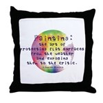 Art Painting Exposed Throw Pillow