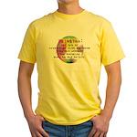 Art Painting Exposed Yellow T-Shirt