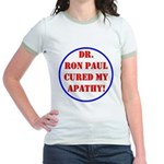 Ron Paul cure-2 Jr. Ringer T-Shirt