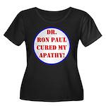 Ron Paul cure-2 Women's Plus Size Scoop Neck Dark