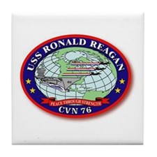 USS Ronald Reagan Tile Coaster