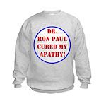 Ron Paul cure-2 Kids Sweatshirt