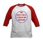 Ron Paul cure-2 Kids Baseball Jersey