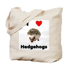 I Love Hedgehogs Tote Bag