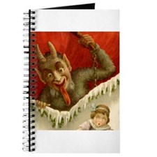 Christmas Krampus DEVIL &Girl Notebook Journal