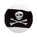 Jolly Rogers Flag Ornament (Round)