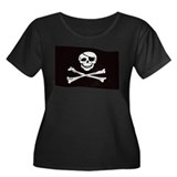Jolly Rogers Flag Women's Plus Size Scoop Neck Dar