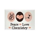 Peace Love Chemistry Rectangle Magnet (10 pack)