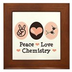 Peace Love Chemistry Framed Tile