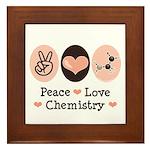 Peace Love Chemistry Framed Tile