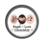 Peace Love Chemistry Wall Clock