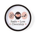 Peace Love Chemistry Wall Clock