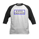 Ron Paul cure-1 Kids Baseball Jersey