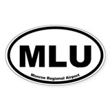 Monroe Regional Airport Oval Decal