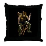 Female Billiard Thief Throw Pillow