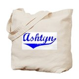 Ashtyn Vintage (Blue) Tote Bag