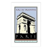 Paris, Arc de Triomphe Postcards (Package of 8)