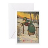 Vintage holiday Greeting Cards (20 Pack)