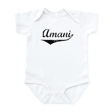 Amani Vintage (Black) Infant Bodysuit