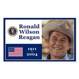 RONALD WILSON REAGAN Rectangle Decal
