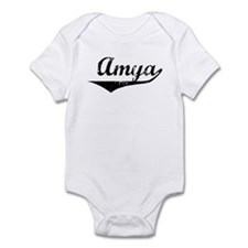Amya Vintage (Black) Infant Bodysuit
