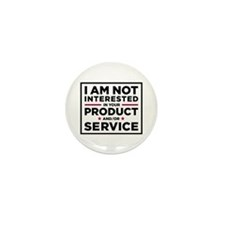 Not Interested Mini Button (100 pack)