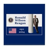 RONALD WILSON REAGAN Tile Coaster