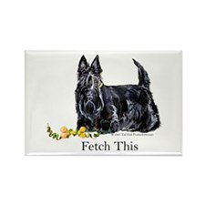 Scottish Terrier Holiday Dog Rectangle Magnet (10